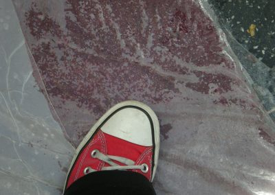 My foot on Oscar's Red Carpet